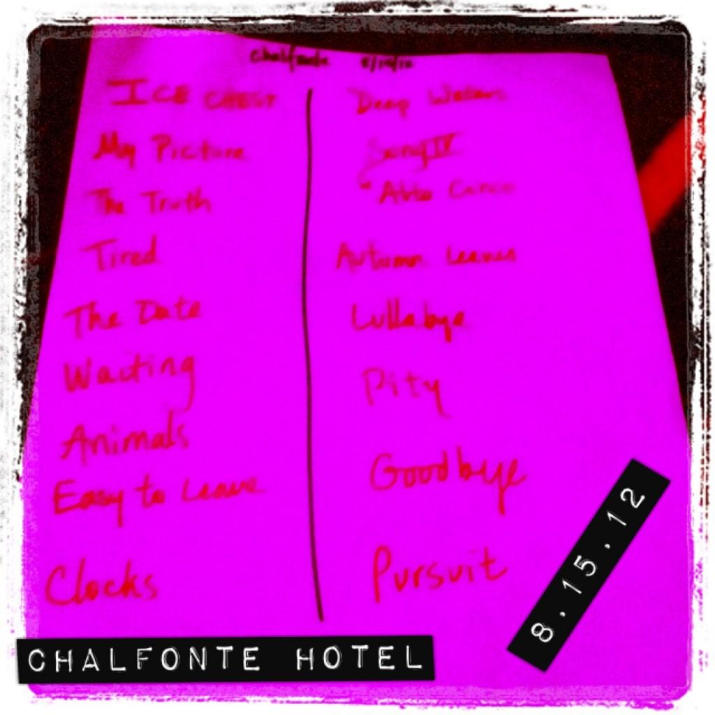 Chalfonte Setlist
