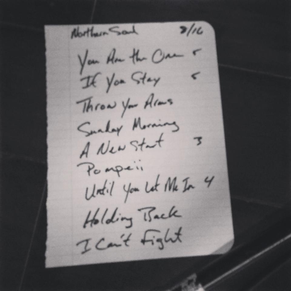 Setlist 081614