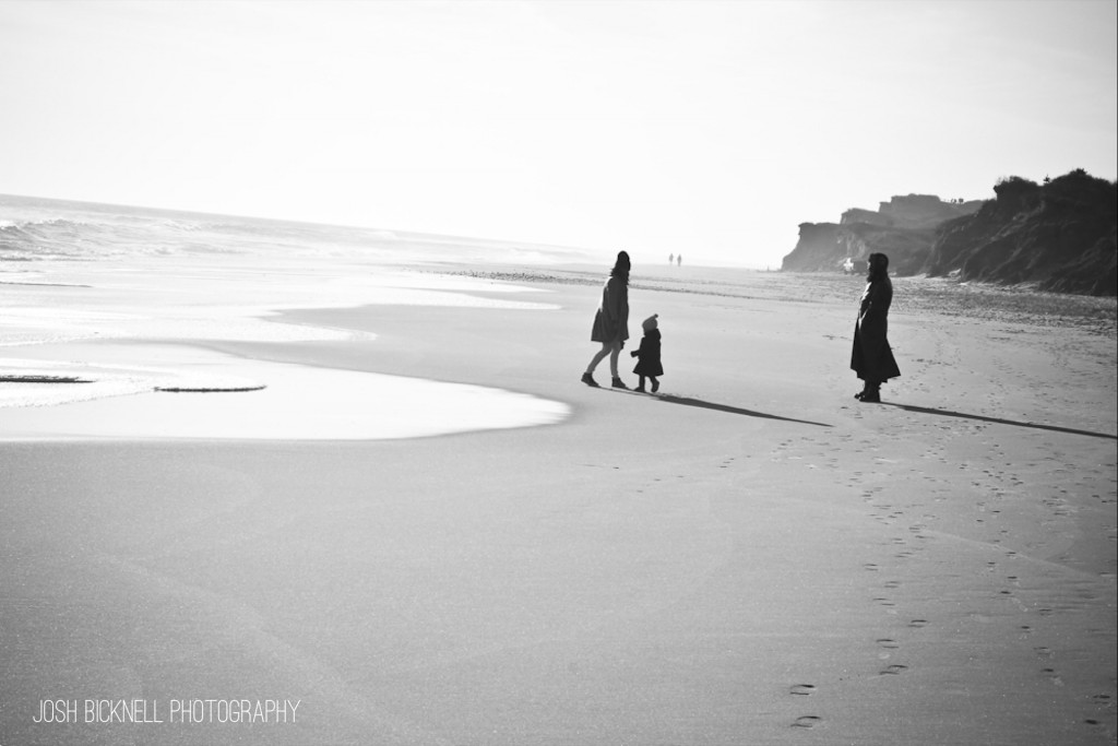 Family on the Beach. Montauk, NY. December 2014.