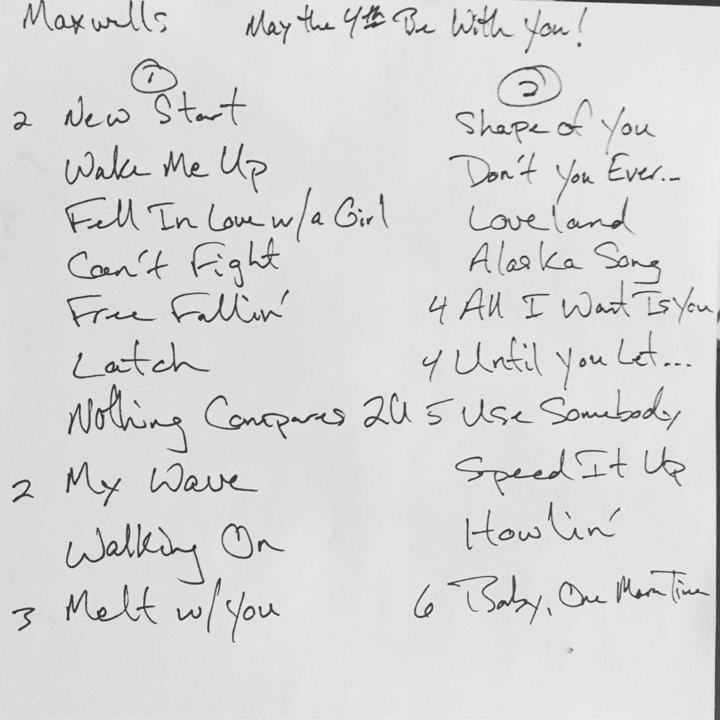 Setlist050417Maxwells